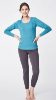 Bamboo Base Layer Top by Thought - River Blue - WWT3190P